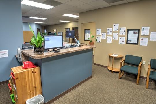 Receptionist Desk at Beaverton Family Chiropractic, PC