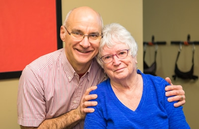 Chiropractor Beaverton OR Dan Miller with Happy Patient